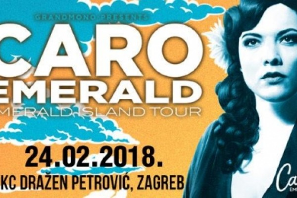 "Caro Emerald is in Zagreb! Within her current ""Emerald Island"" tour - 10% discount on accommodation upon presentation of tickets"